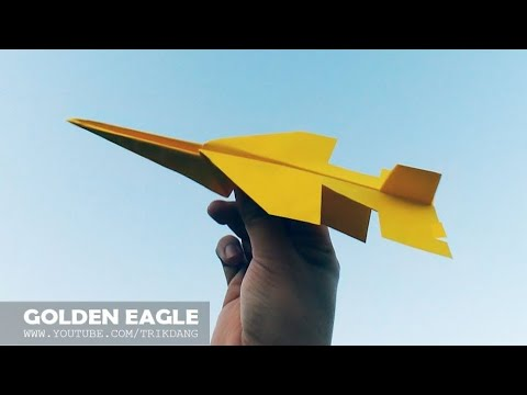 COOL PAPER JET - How to make a Paper Airplane that Flies | F-17 Golden Eagle