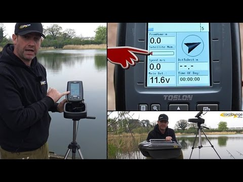 CarpLounge RT4 BaitBoat and Toslon TF640 Echo Sounder fish finder with GPS  - High Tech Carping