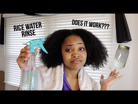 Trying A Rice Water Rinse For The First Time