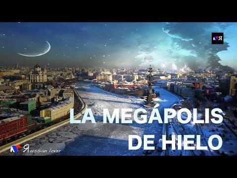 La megápolis de hielo (Moscow, footage, 4K, drone, DJI, Mavic Pro)
