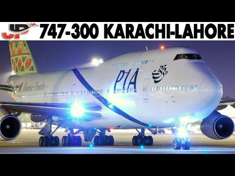 Piloting BOEING 747-300 Karachi To Lahore | Cockpit Views