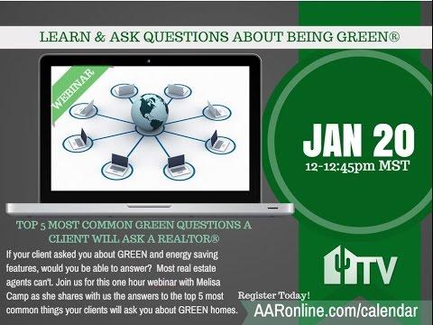 Green Webinar - 1.20.15