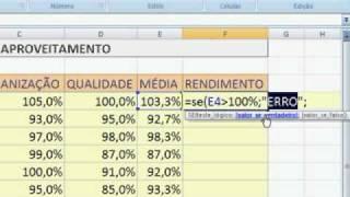 FUNÇÃO =SE() COM 4 ARGUMENTOS ANINHADA...