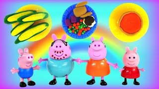 Peppa Pig Happy Thanksgiving Play Doh Feast - Peppa's Holiday Meal Using Playdough By Dctc