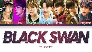 BTS BLACK SWAN Lyrics (방탄소년단 BLACK SWAN 가사) [Color Coded Lyrics/Han/Rom/Eng]
