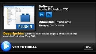 Como instalar plugins & filtros en Adobe Photoshop CS4 & CS5 (Filtro Extraer)