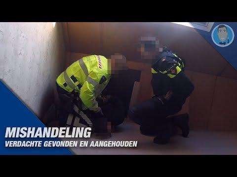 MISHANDELING POLITIEAGENT & aanhouding verdachte. Politievlogger Jan-Willem en Dwight