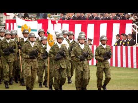 走り去る時の掛け声もカッコイイ空挺レンジャー2018【 習志野駐屯地】