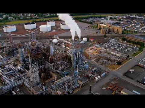 3244741Aerial view of storage tanks and Industrial refinery