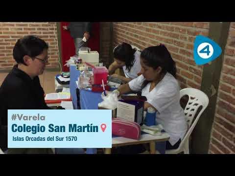 Donación de sangre para los niños del Hospital Garrahan en el Colegio San Martín de Varela