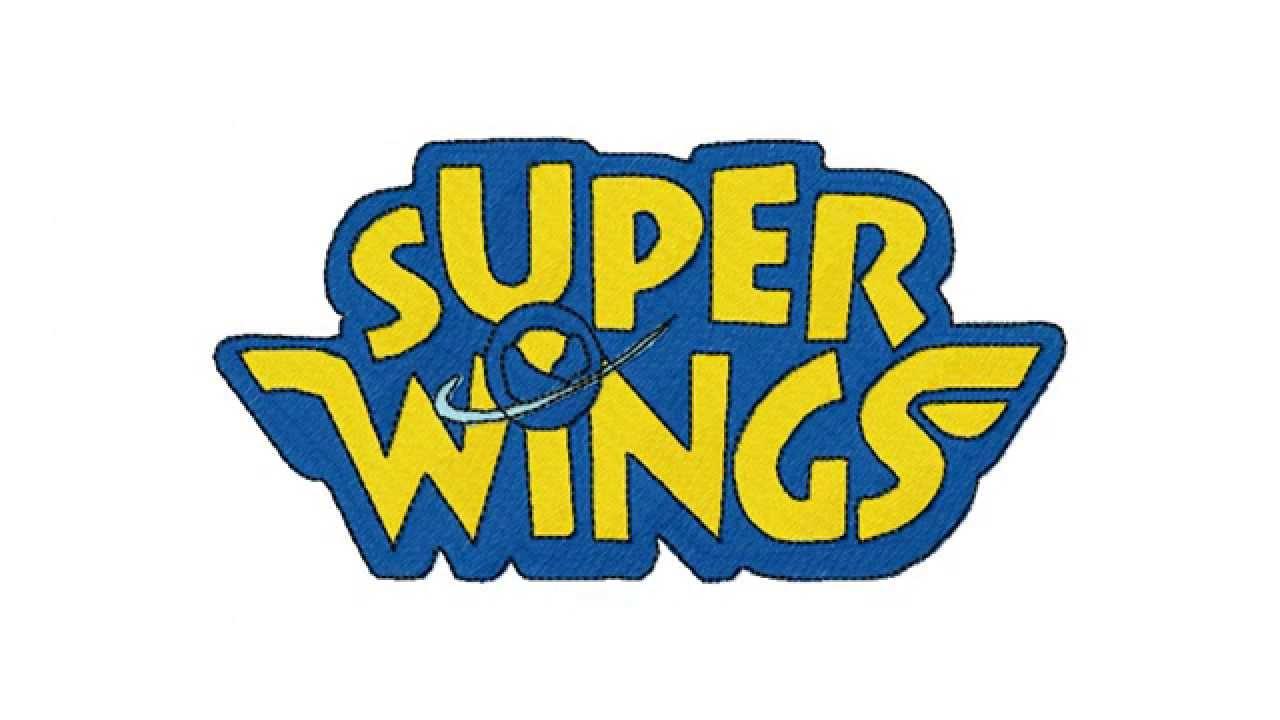 logo super wings embroidery design youtube. Black Bedroom Furniture Sets. Home Design Ideas
