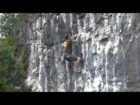 Sport Climbing at Devil's Glen in Ontario 2014 - Part 2/2