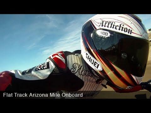 MotoUSA Flat Track Arizona Mile Onboard