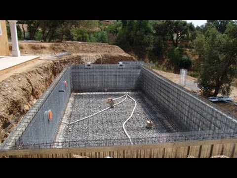 Como hacer piscina de hormigon encofrada youtube for Piscinas cemento construccion