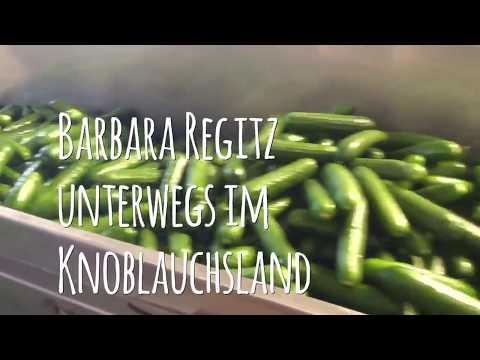 Barbara Regitz unterwegs im Knoblauchsland mit Angelika Schorer ...