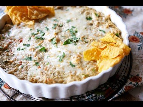 Skinny Green Chile Chicken Enchilada Dip