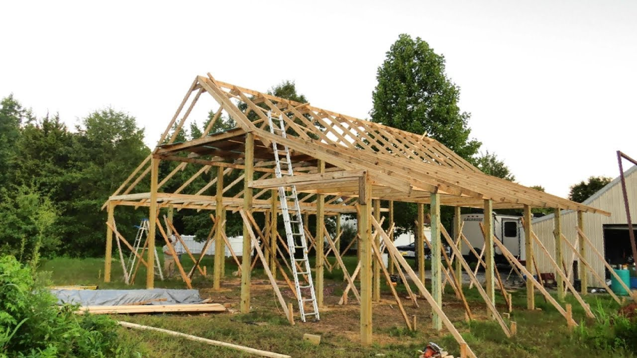 Pole Barn Construction (Part 2: Pole Barn Framing ...