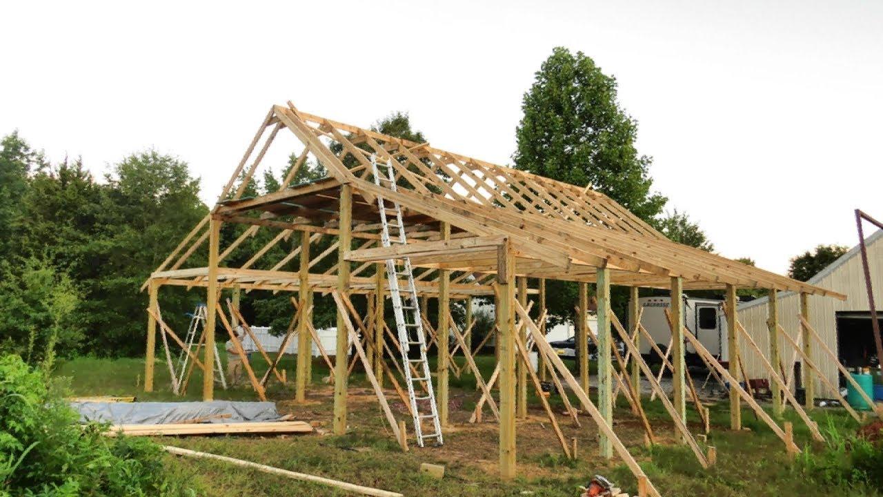 medium resolution of pole barn construction part 2 pole barn framing useful knowledge