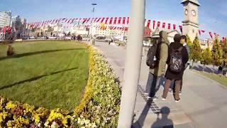 Jalan - jalan di kota Kayseri  Turki. (Cumhuriyet Meydanı), short video.
