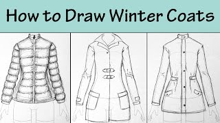How to Draw Winter Coats 3 Ways.