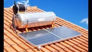 aquecedor solar , a agua nao esquenta