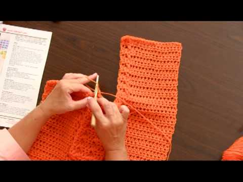 Learn to Crochet the Wrap With Slits Using Super Saver by Red Heart