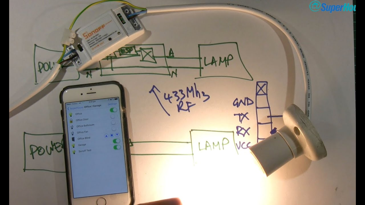 Superhousetv 17 Home Automation Control With Sonoff Arduino Ir Remote Switch Circuit Diagram Openhab And Mqtt