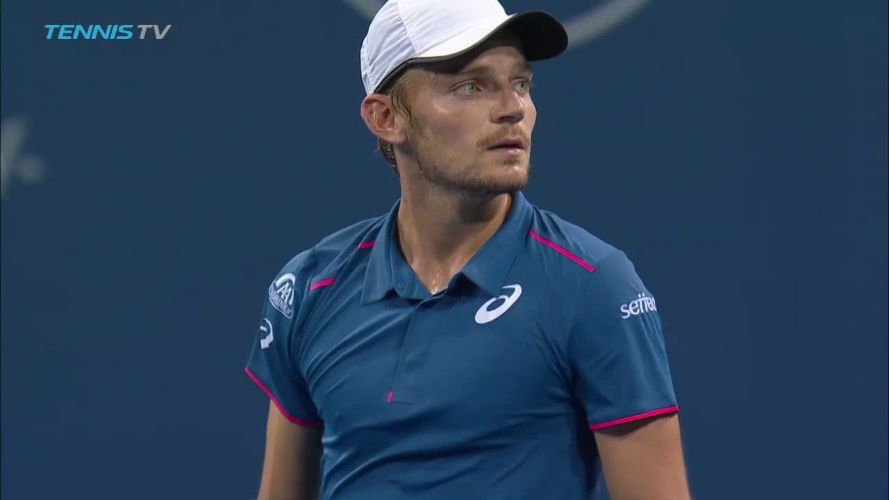 Hot Shot: Goffin's Perfect Match Point Finish Against Del Potro