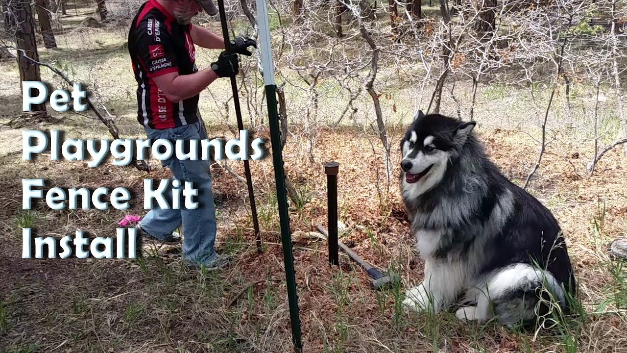 Pet Playground Dog Fence Diy Installation Clips Uneven