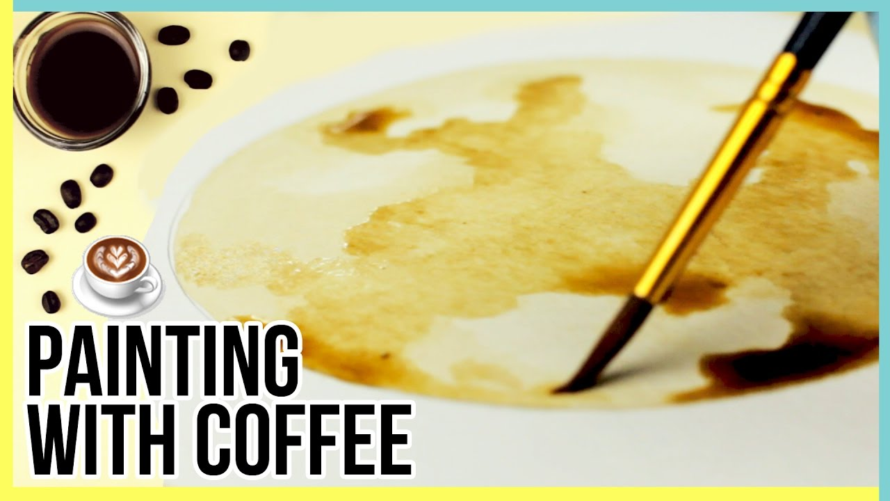 Art challenge painting with coffee painting the moon for Painting with coffee