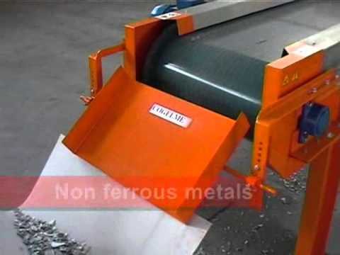 COGELME - Eddy current separator - non-ferrous metal, plastic and iron separation