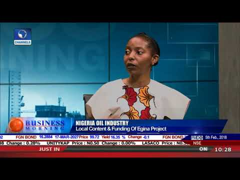 Local Content And Funding Of The Egina Project - Amy Jadesimi |Business Morning|