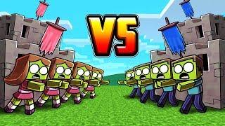 Minecraft | BOY ZOMBIE BASE VS GIRL ZOMBIE BASE! (Zombie Base Challenge)