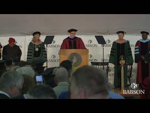 Babson College's 2017 Undergraduate Commencement Ceremony