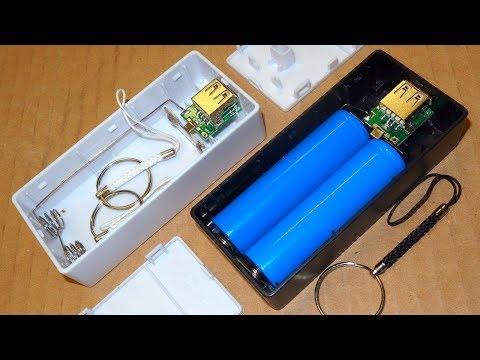 """DIY"" USB Power Bank for 2x 18650 Li-Ion cells"
