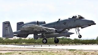 A-10 Aircraft Landings - Return From Deployment