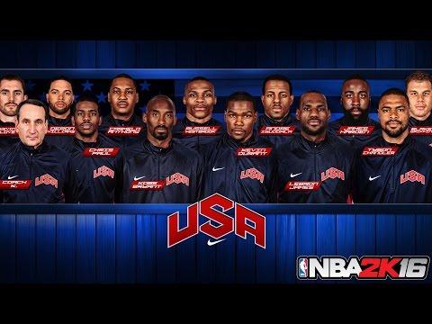 NBA 2K16 All Time Teams: 2012 Olympic Team!