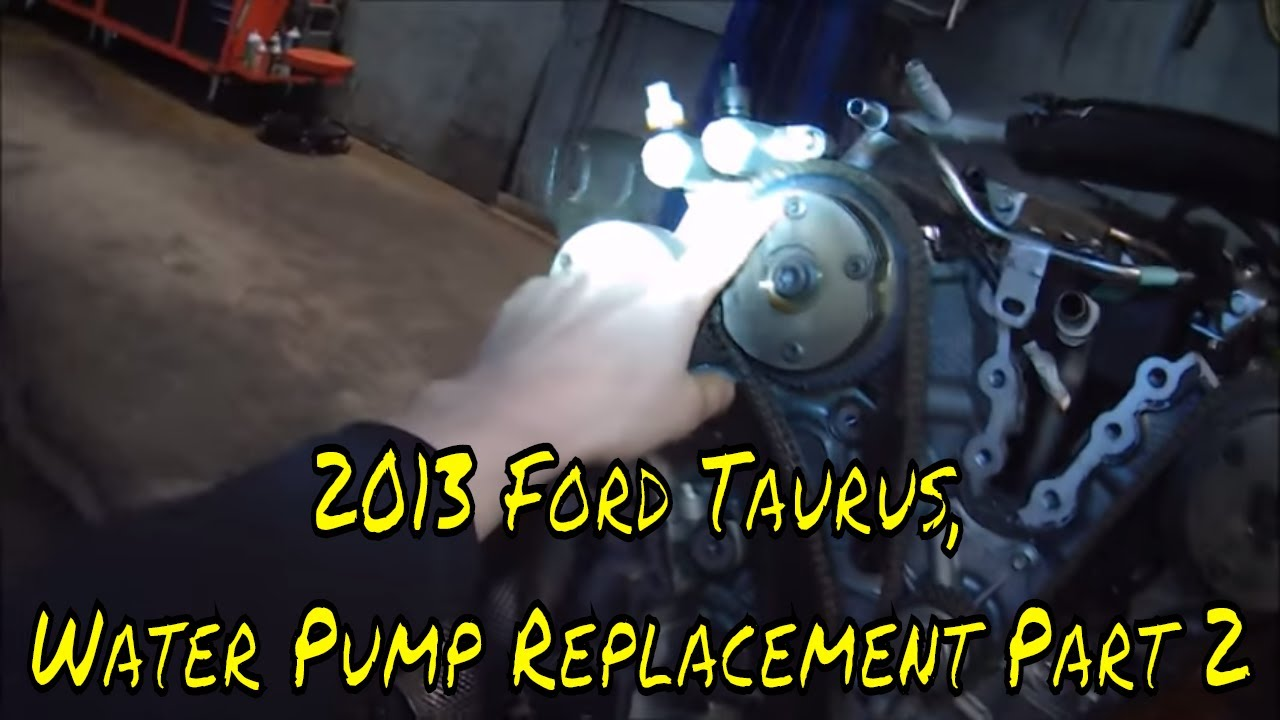 ford taurus water pump replacement part  youtube