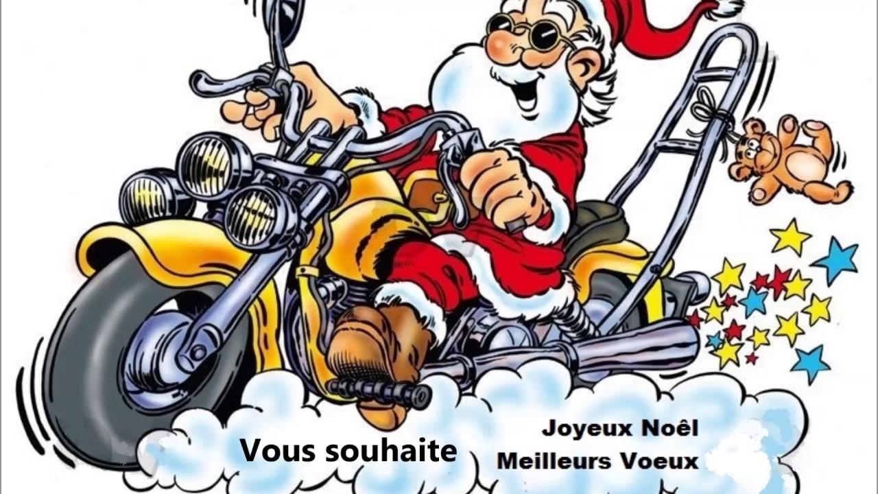 Carte De Noel Avec Moto