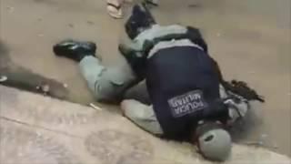 Полицейский был застрелен при задержании преступника. Бразилия, 2016 г.