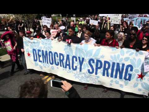 March To The U.S. Capitol: Democracy Spring