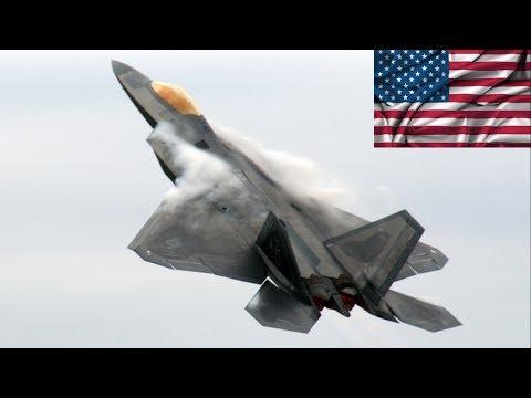 Raptores da Força Aérea dos EUA voam rumo ao Irã