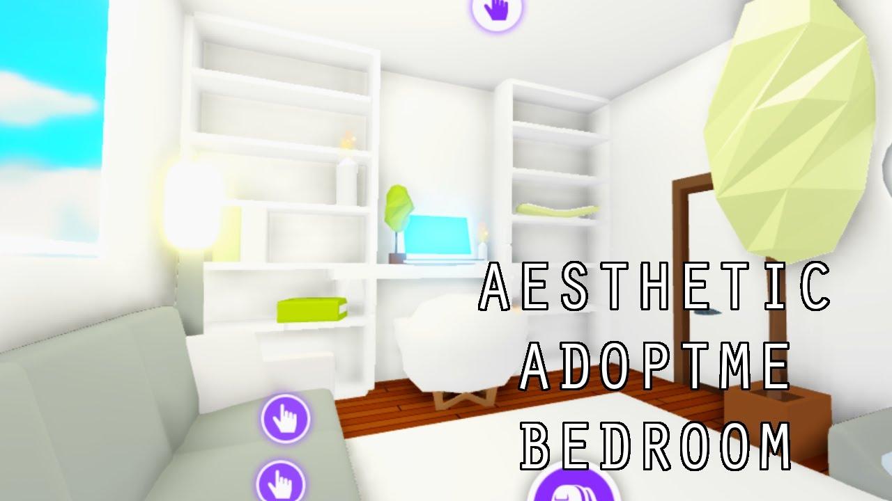 Aesthetic Adopt Me White Bedroom Speed Build Roblox Youtube