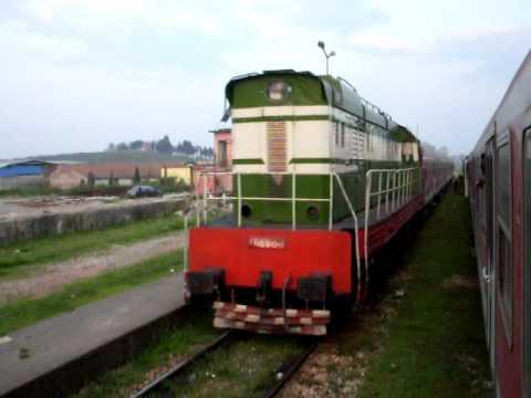 HSH T669 1061 crosses train to Pogradec near Tirana Albania