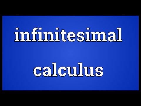 Infinitesimal calculus Meaning