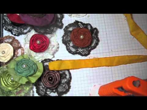 DIY:Easy to make Fabric twisted flower tutorial by SaCrafters