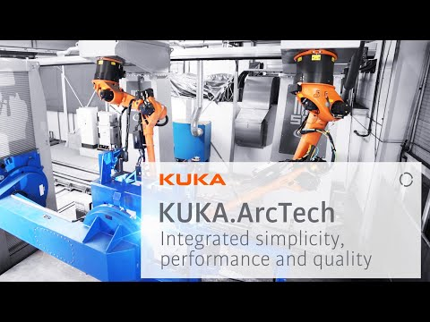 MIG / MAG welding with cooperating KUKA robots - YouTube