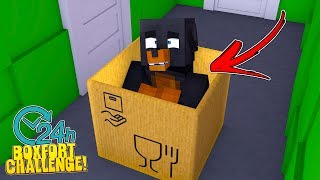 Minecraft 24 HOUR GIANT BOX FORT CHALLENGE IN THE LITTLECLUB - WHO WILL SURVIVE THE LONGEST