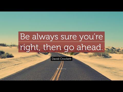 TOP 20 David Crockett Quotes