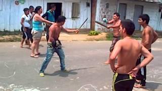 pelea a machete en florencia barrio idema